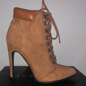 Forever 21 lace up boot heel